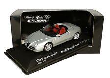 Alfa Romeo Spider in silber Bj 2003 1:43 Minichamps 400120330 NEU & OVP