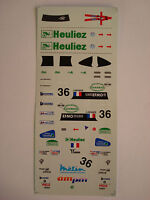 DECALS KIT 1/43 WR PEUGEOT TEAM WALTER RACING LE MANS 2000 N.36 DECALS