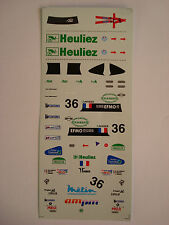 DECALS KIT 1/43 WR PEUGEOT TEAM WALTER RACING 24h LE MANS 2000 N.36 DECALS