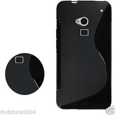 Pellicola + Custodia cover case WAVE NERA per HTC ONE MAX T6 Morbida Tpu Onda