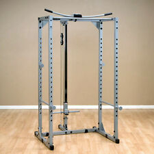 Powerline PPR200X Power Rack with Lat Attachment, Low Row Station by Body-Solid