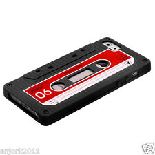 APPLE iPhone 5 RETRO STYLE CASSETTE TAPE SILICONE SKIN COVER CASE BLACK