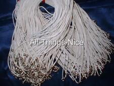 "Silk Mix 18"" Necklace WHITE Strings Fashion Jewellery Pendant Cord Joblot 20"