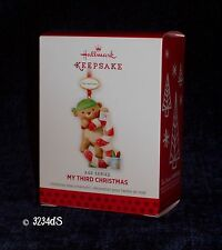 2013 Hallmark MY THIRD CHRISTMAS Child's Age Series Personalizable Ornament