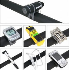 Precision Black Bike Elastic AT0A Strap Mount Holder for Lights Cell Phone 3C