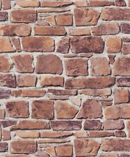 Brick Effect Slate Stone Wall Textured Realistic Unpasted Wallpaper 402612