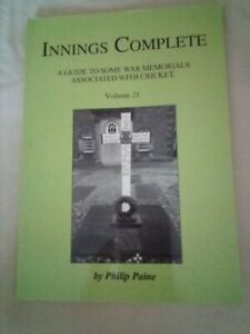 Rare (250 signed copies). Cricketers killed in WW1. Somme. Great War.