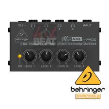 Behringer MicroAMP HA400 4-Channel Headphone Amplifier 120V US 689076149716