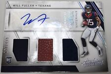 2016 16 WILL FULLER TEXANS FOOTBALL MATERIALS PATCH JERSEY ROOKIE RC AUTO #/ 499