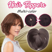 Ladies Silky Clip-On Hair Topper Colors Short Straight Hair Wig Full Wigs Cap-