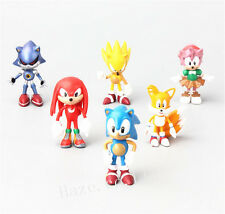 6PCS/Set The Hedgehog Sonic PVC Figure Home Décor