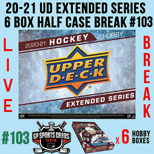 Vancouver Canucks - 20-21 UD EXTENDED SERIES HOCKEY 6 BOX HALF CASE BREAK #103