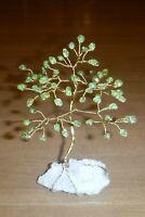 5.75 inch-gemstone tree PERIDOT gem tree QUARTZ Feng Shui healing crystal