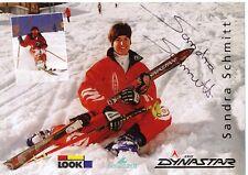Sandra Schmitt † 2000 ski freestyle autografiada mapa firmado 361045