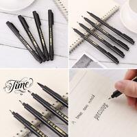 Signature Black Ink Brush Lettering Pens Writing Tool Calligraphy Pen Marker