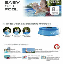 """Intex 8' x 30"""" Easy Set Pool Round Above Ground Inflatable NO PUMP⚡️"""