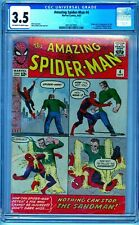 CGC 3.5 AMAZING SPIDER-MAN #4 1ST APPEARANCE SANDMAN OW/WHITE PAGES 1963