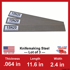 15N20 Carbon Steel Bar Billet- 1/16 in x 11.6