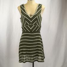 a83733405 Trixxi Three Pink Hearts Sleeveless Dress Large boho olive green lined New  $48