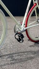 PEDALS ALLOY FIXIE BLACK SILVER TOE STRAP 9/16 THREAD JUBE CUSTOMS FREE POSTAGE!