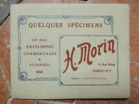 CATALOGUE MORIN spécimens et tarif enveloppes commerciales 1935
