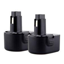 2pcs 2000mAh Ni-CD 12V Battery for DEWALT DC9071 DW9072 DE9037 DW9071 DE9071