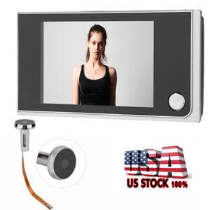 """3.5"""" LCD Digital 120 Degree Peephole Viewer Photo Visual Monitoring Camera"""
