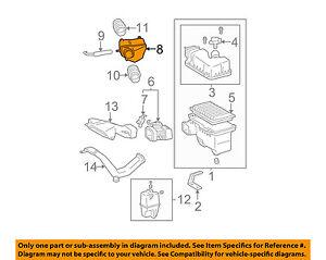 TOYOTA OEM Air Cleaner Intake-Upper Resonator 178930A080