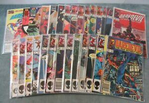 Daredevil #217-354 comic book lot of 28 books John Romita Jr NM Typhoid Mary 1