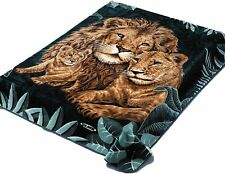 Solaron Thick Warm Fine Polyester Mink Plush Three Lions Heavy Weight Blanket