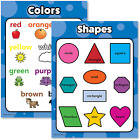 Shapes & Colors Poster Chart Set for Kids Laminated Double Sided 18x24