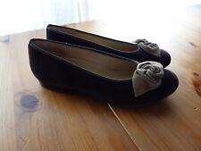 Hassia Premium Comfort Ballerinas Wildleder dbraun 37 Vario-Fußbett Neu NP140.-€