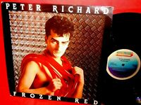 PETER RICHARD Frozen red LP 1983 ITALY EX First Pressing Italo Disco