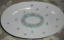"""Rosenthal Germany Garland Multicolor Romance Oval Platter Tray Vegetable 9 1/2"""""""