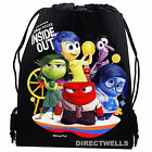 Disney Pixar Inside Out Authentic Licensed Black Drawstring Bag