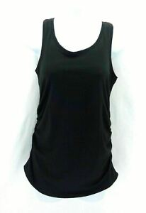 Maternity Ruched Sided Black Tank Top Casual Summer Shirt Size XS