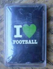 New Deck Of I Love Foot Ball Playing Cards In Plastic Case >