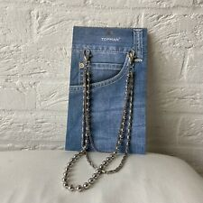 Brand New Topman Wallet Chain Silver Pocket Keychain Keyring RRP £16.00