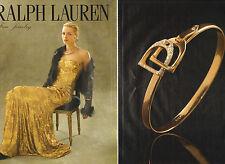 Publicité 1992 (double page) RALPH LAUREN  joaillier collection collier bague