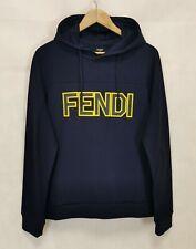 Fendi Hoodie Yellow LogoNavy 48 - M new for men