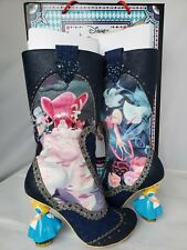 Irregular Choice 6.5 Alice in Wonderland LOST YOUR MUCHNESS knee high boots, NIB