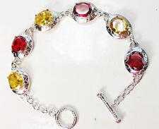 925 Silver colourful stone  Bracelets