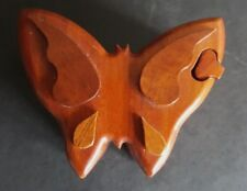 hard wood butterfly trinket box from Costa Rica