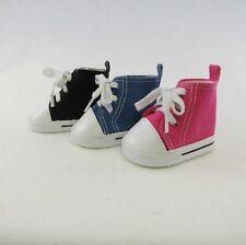 Black High Top Tennis Shoes Fits American Girl Dolls - Great for Boy Logan !