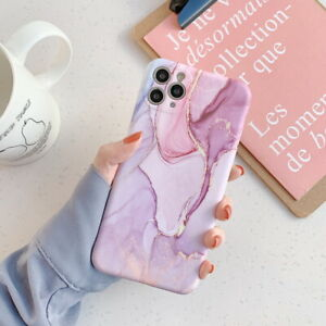 Gentle Ink Marble Soft Rubber Case Cover For iPhone 12 Pro Max 11 XS Max XR X 8
