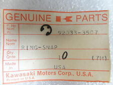 Kawasaki NOS NEW  92033-3507 Snap Ring Drifter Intruder Invader Snow 1978-81