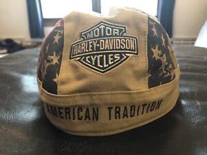 Harley Davidson Skull Cap Du-rag Doo Rag Bandana Biker American Tradition OSFM