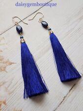 Lapis Lazuli Drop/Dangle Oval Costume Earrings