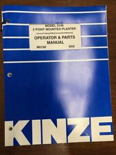 Kinze Model 3120 3 Point Mounted Planter Operator and Parts Manual 6/05