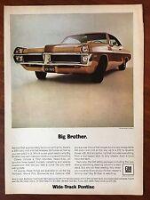 Vintage 1967 Original Print Ad Wide Track PONTIAC Big Brother